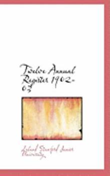 Paperback Twelve Annual Register 1902-03 Book