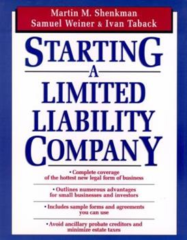 Paperback Starting a Limited Liability Company Book