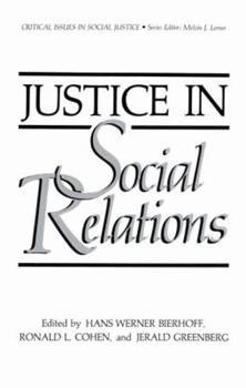 Paperback Justice in Social Relations Book