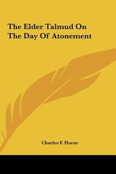 Hardcover The Elder Talmud on the Day of Atonement Book