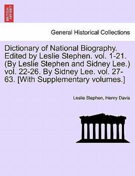 Paperback Dictionary of National Biography Edited by Leslie Stephen Book