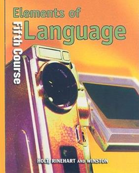 Elements of Language: Fifth Course 003052668X Book Cover