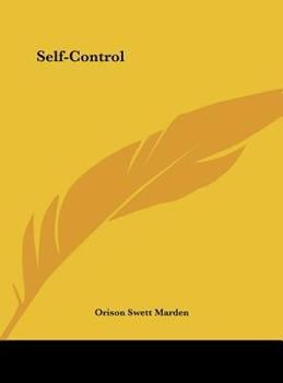 Hardcover Self-Control Book