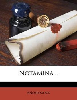 Paperback Notamina... Book