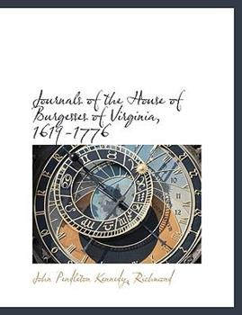 Paperback Journals of the House of Burgesses of Virginia, 1619-1776 Book