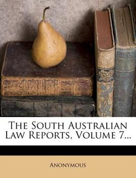Paperback The South Australian Law Reports Book