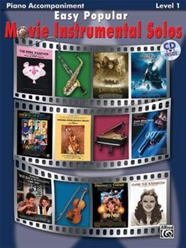 Paperback Easy Popular Movie Instrumental Solos: Piano Acc., Book & CD [With CD] Book