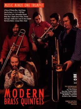 Paperback Modern Brass Quintets - Trumpet (Music Minus One (Numbered)) Book