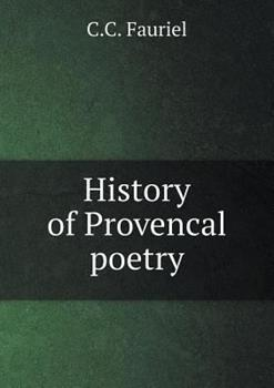 Paperback History of Provencal Poetry Book