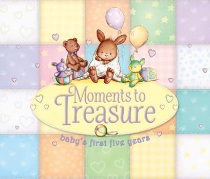 Hardcover Moments to Treasure: Baby Album & Record Book