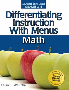Paperback Differentiating Instruction with Menus: Math (Grades 3-5) Book