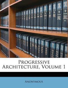 Paperback Progressive Architecture Book