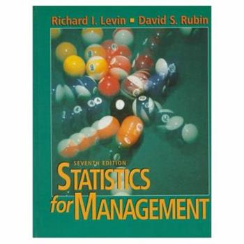 Statistics for Management 0138453489 Book Cover