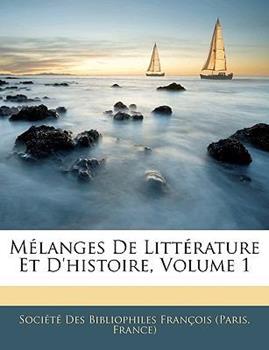 Paperback M?langes de Litt?rature et D'Histoire Book