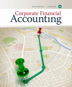 Corporate Financial Accounting 0538853395 Book Cover