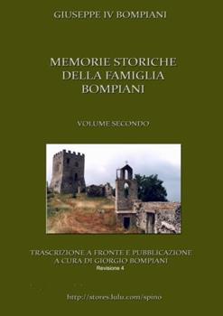 Paperback Memorie Storiche Della Famiglia Bompiani (Vol. II) [Italian] Book