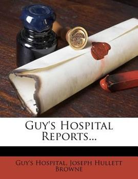 Paperback Guy's Hospital Reports... Book