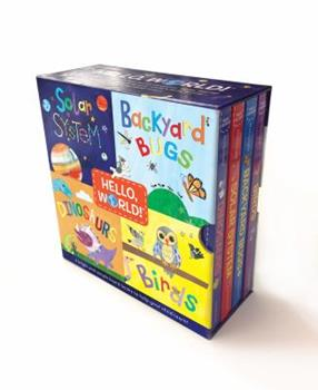 Board book Hello, World! Boxed Set: Solar System; Dinosaurs; Backyard Birds; Bugs Book
