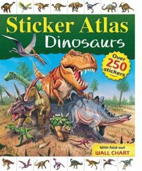 Paperback Dinosaur Sticker Atlas Book