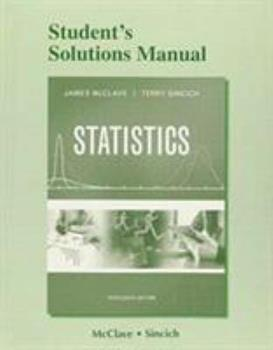 Student's Solutions Manual for Statistics 0321755979 Book Cover