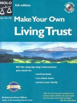 Paperback Make Your Own Living Trust Book