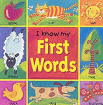 Hardcover I Know My First Words Board Book