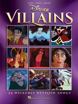 Paperback Disney Villains: 24 Wickedly Devilish Songs Book