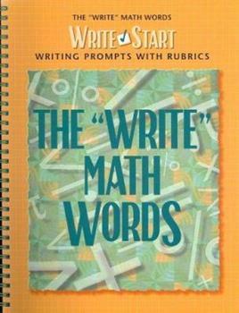 """Spiral-bound The """"Write"""" Math Words Book"""