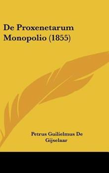 Hardcover De Proxenetarum Monopolio Book