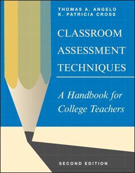 Paperback Classroom Assessment Techniques: A Handbook for College Teachers Book