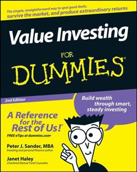Value Investing For Dummies 0764554107 Book Cover