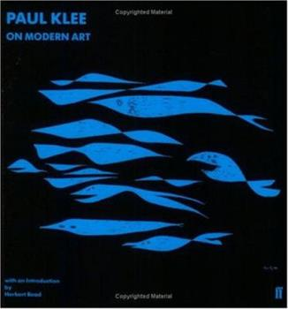 Paperback Paul Klee on Modern Art (Faber Paper Covered Editions) Book