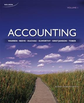 Accounting: Volume 1 0176509739 Book Cover