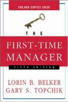 Paperback The First-Time Manager Book