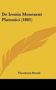 Hardcover De Ironia Menexeni Platonici Book