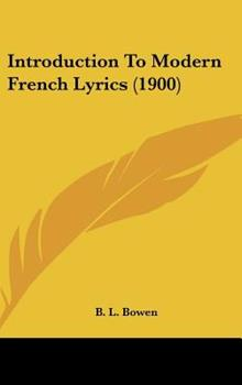 Hardcover Introduction to Modern French Lyrics Book