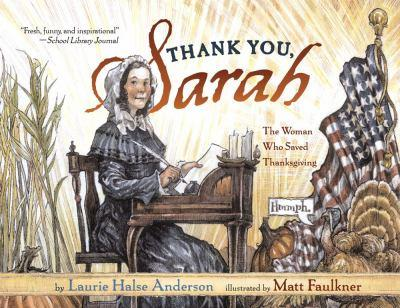 Paperback Thank You, Sarah: The Woman Who Saved Thanksgiving Book