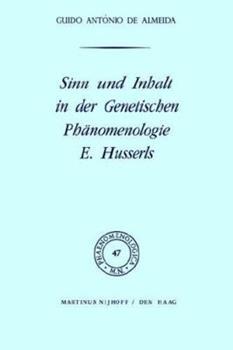 Hardcover Sinn Und Inhalt in Der Genetischen Ph?nomenologie E. Husserls [German] Book