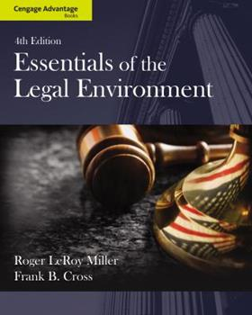Essentials of the Legal Environment 1133586546 Book Cover