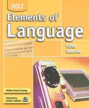 Elements of Language: Fifth Course 0030686695 Book Cover