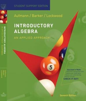 Introductory Algebra Student Support Edition 0547016794 Book Cover