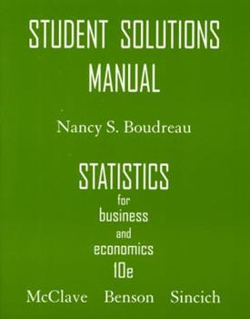Statistics for Business and Economics: Student Solutions Manual 0132409372 Book Cover
