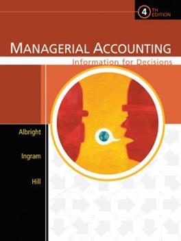 Managerial Accounting: Information for Decisions 0324222432 Book Cover