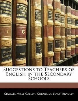 Paperback Suggestions to Teachers of English in the Secondary Schools Book
