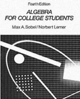 Algebra for College Students 0130259330 Book Cover