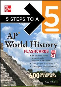 Paperback 5 Steps to a 5 AP World History Flashcards [With Booklet] Book
