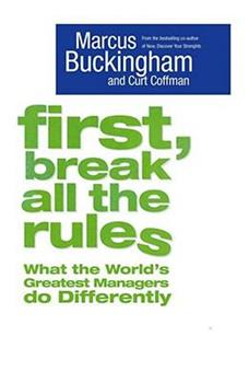Paperback First, Break All The Rules Book