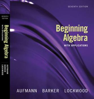 Beginning Algebra With Applications 0395969794 Book Cover