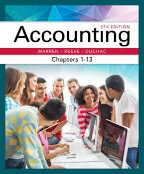 Accounting, Chapters 1-13 032464020X Book Cover