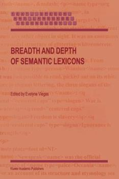 Paperback Breadth and Depth of Semantic Lexicons Book